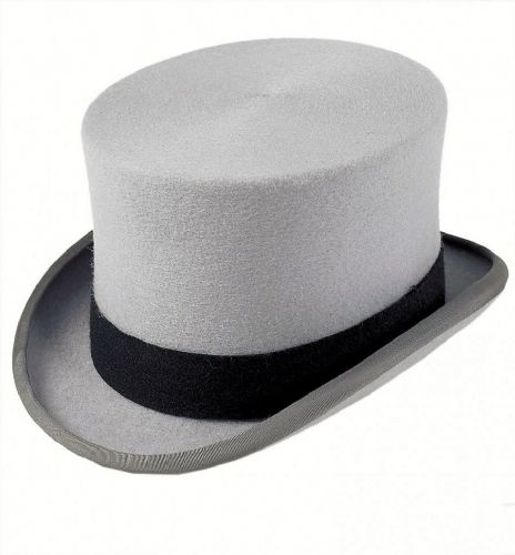 Christys Traditional Wool Felt Top Hat - Grey or Black